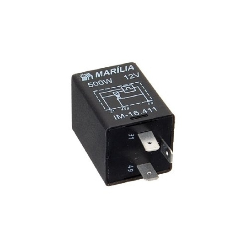 Rele do Pisca 3 Term 12v - Rele de Pisca - Pc - hyster -