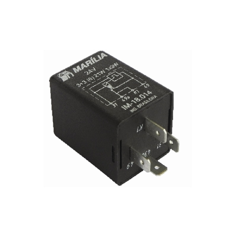 Rele do Pisca 4term 12v 21w - Rele de Pisca - Pc - marcop
