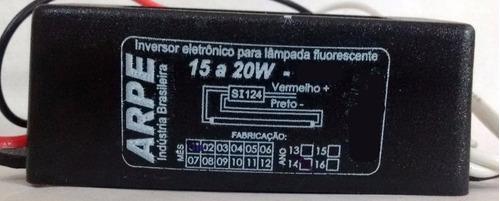 Reator Eletronico 12v P/lampada Fluorescente 15/20w - Reator